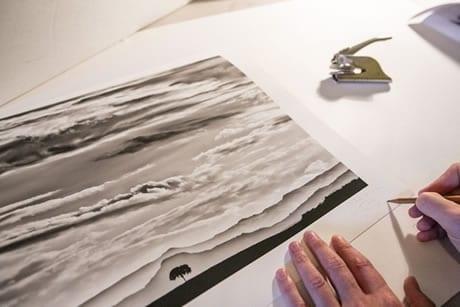authentification - Tirage papier artistique, fine art, reproduction