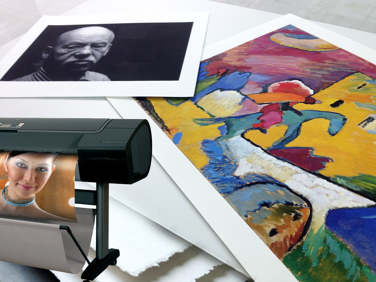 papier jet d'encre - montage photo fine art