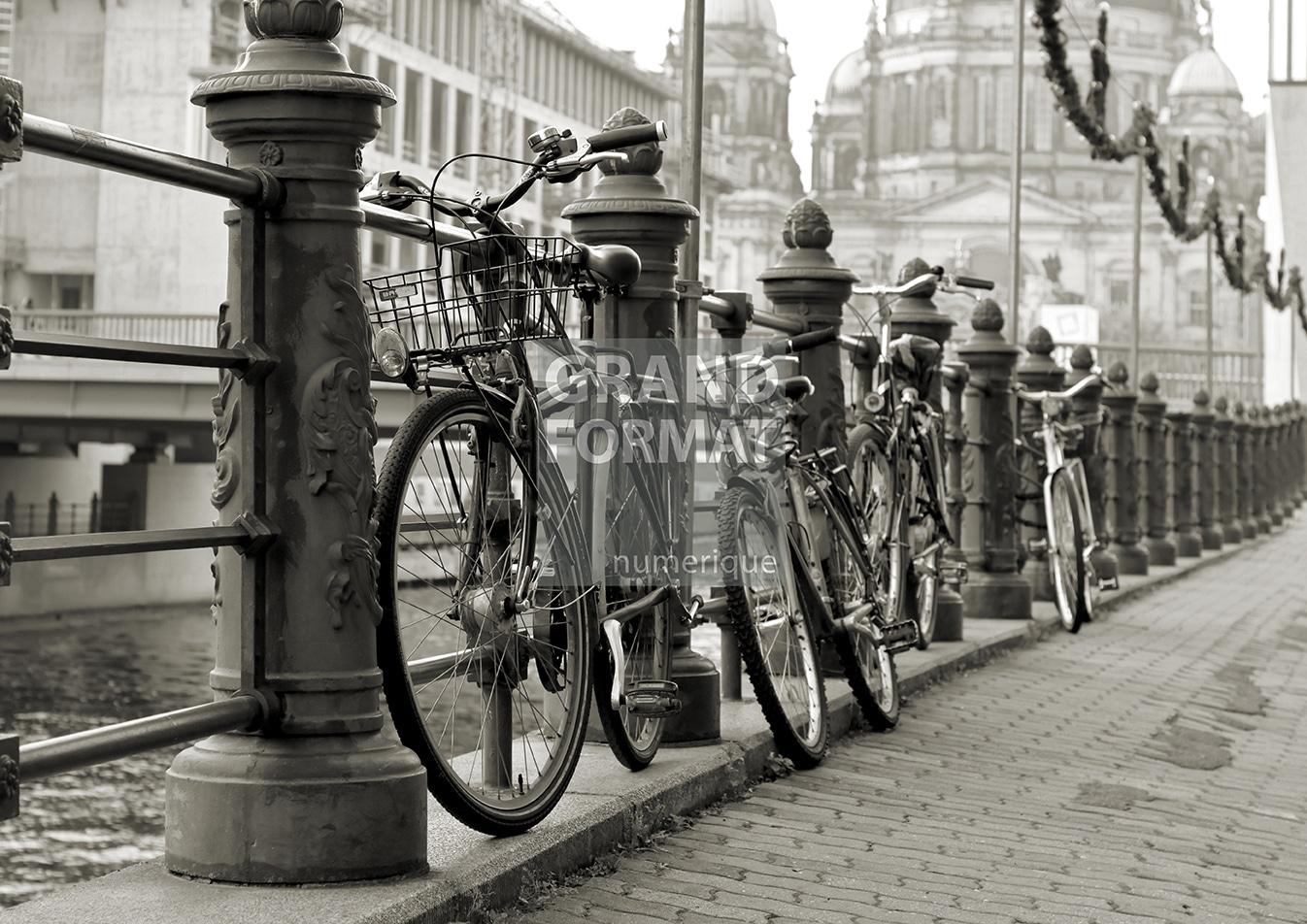 Vélo ville photo impression et toile