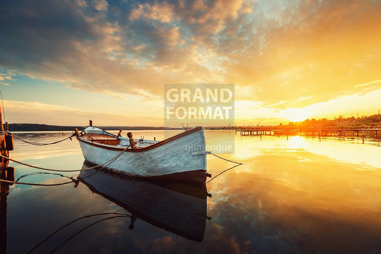 Barque mer photo impression et toile