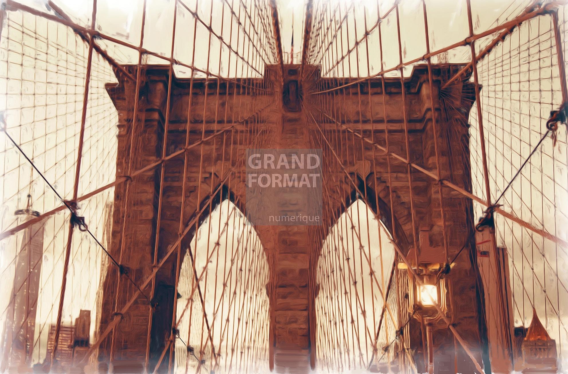 Pont New York photo impression et toile