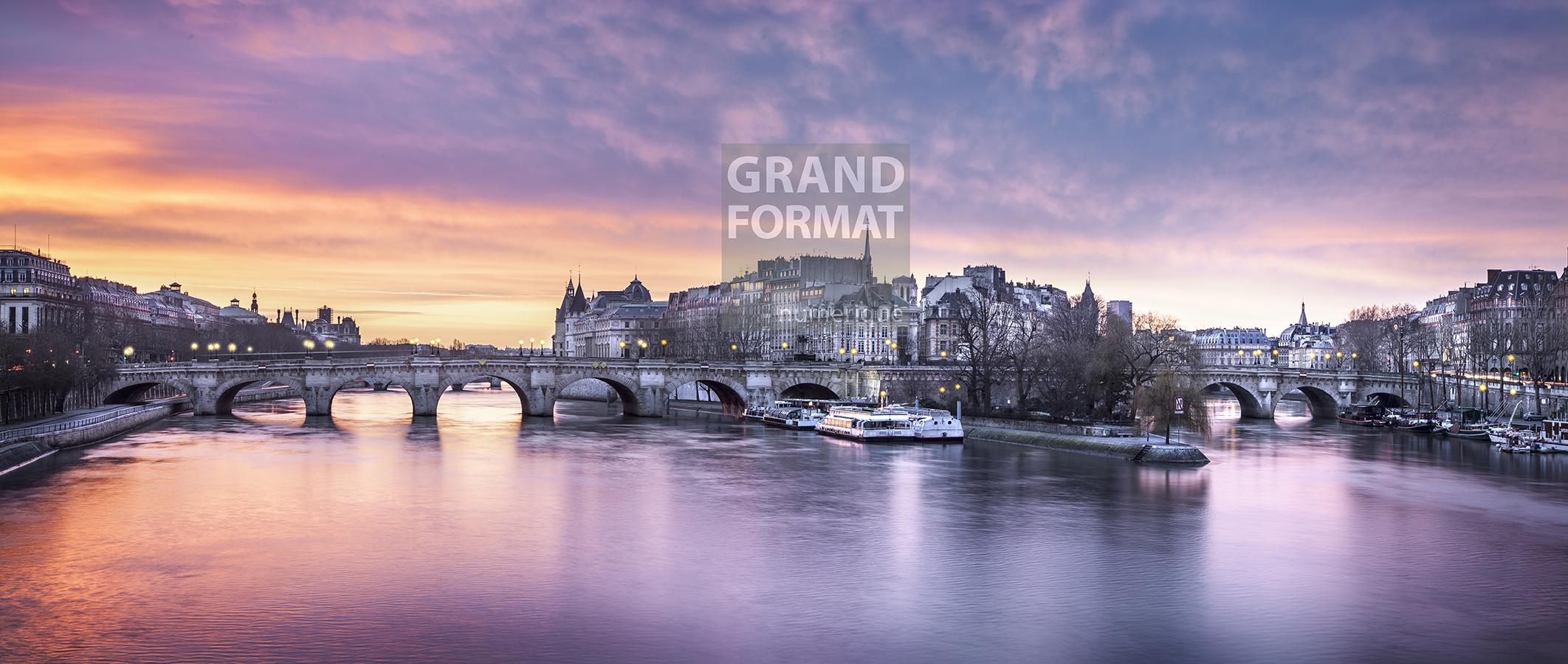 Paris Seine Photo impression et toile