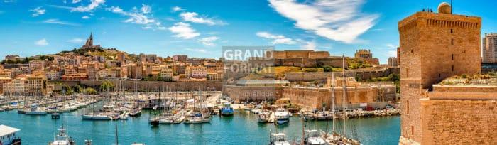 Marseille port photo impression et toile