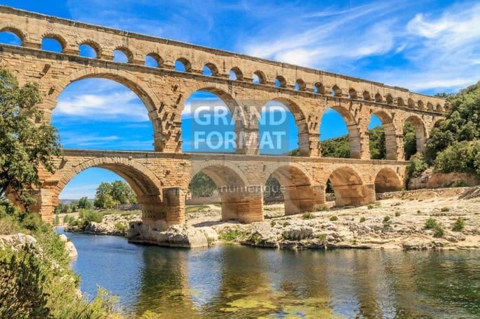 Pont Gard Provence photo impression et toile