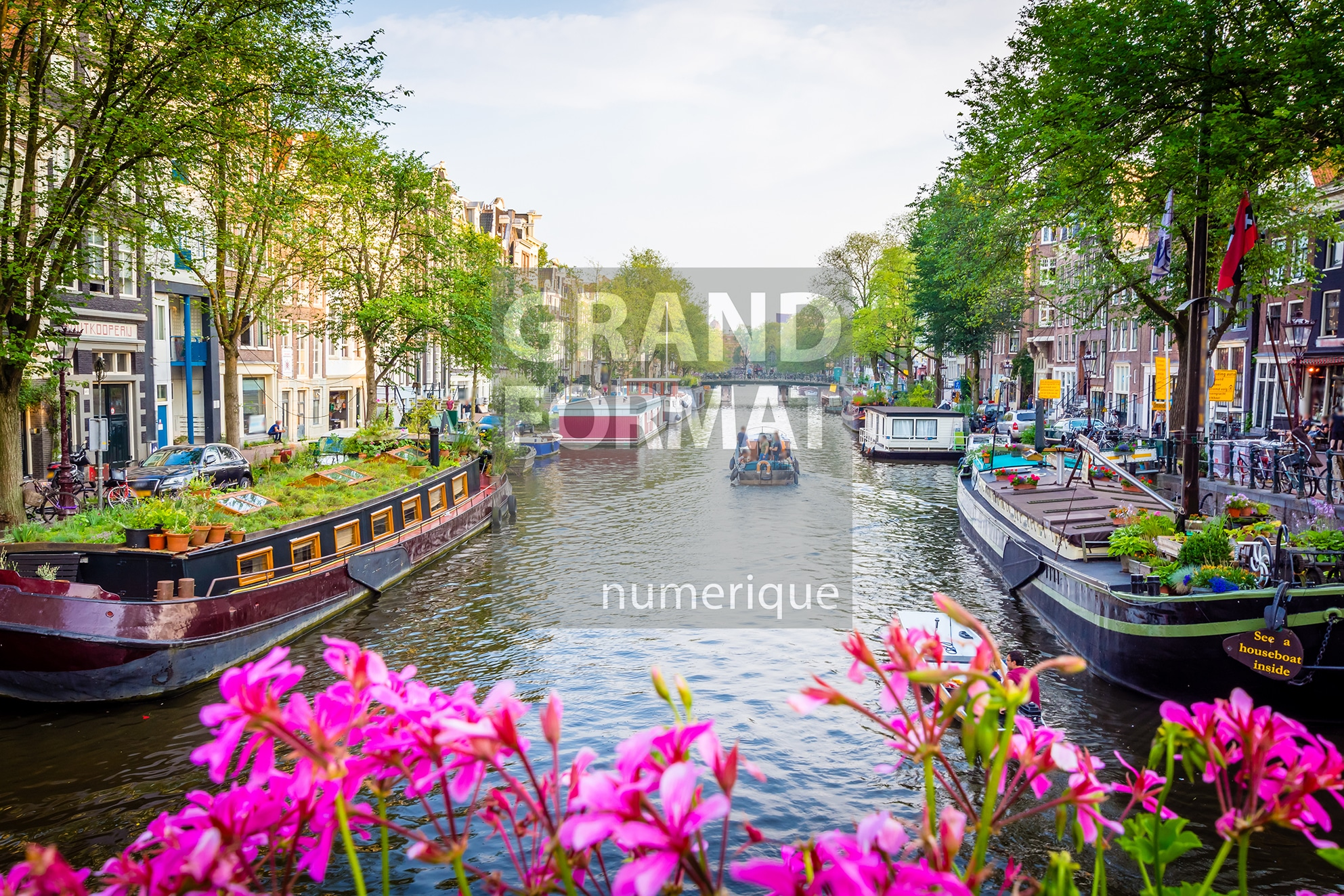 Amsterdam canaux photo impression et toile
