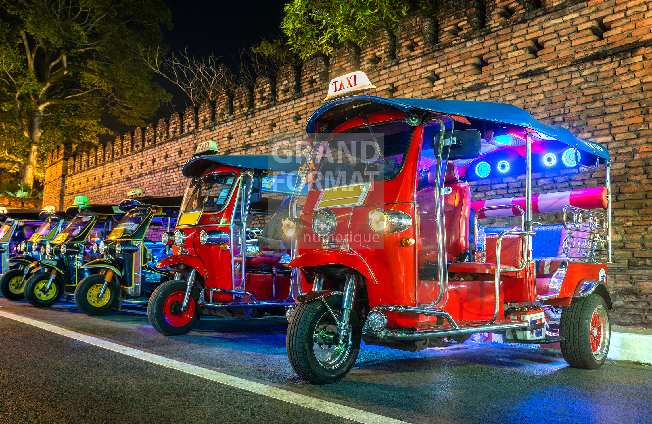 Bangkok taxi photo impression et toile