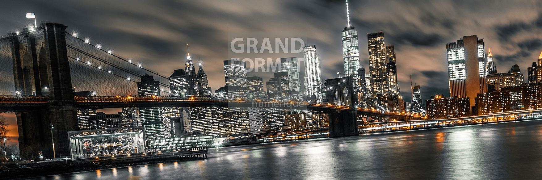 Brooklyn pont NY photo impression et toile