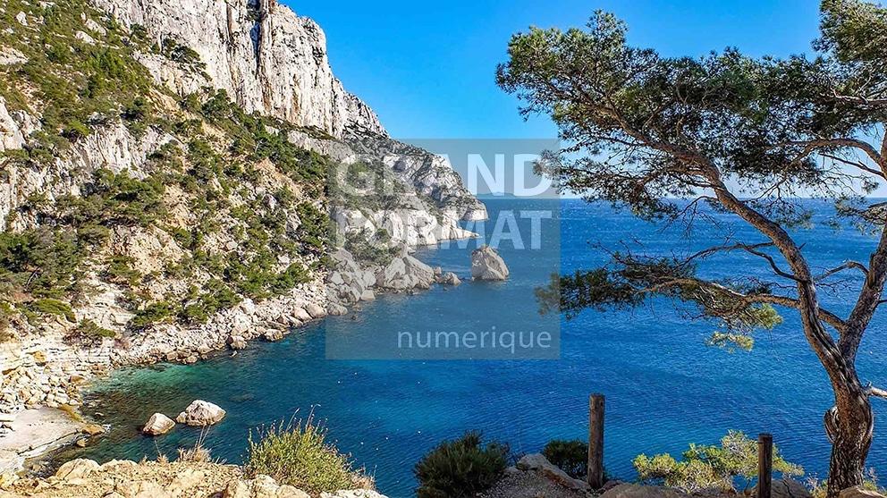 Calanques Marseille photo impression et toile