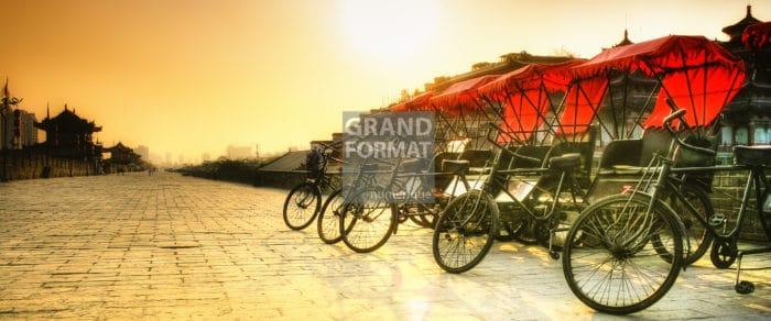 Chine, bicyclettes photo impression et toile