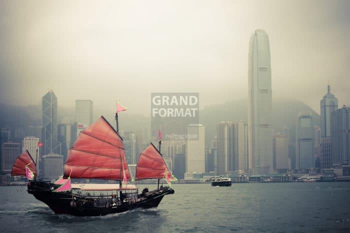Hong Kong, Chine photo impression et toile