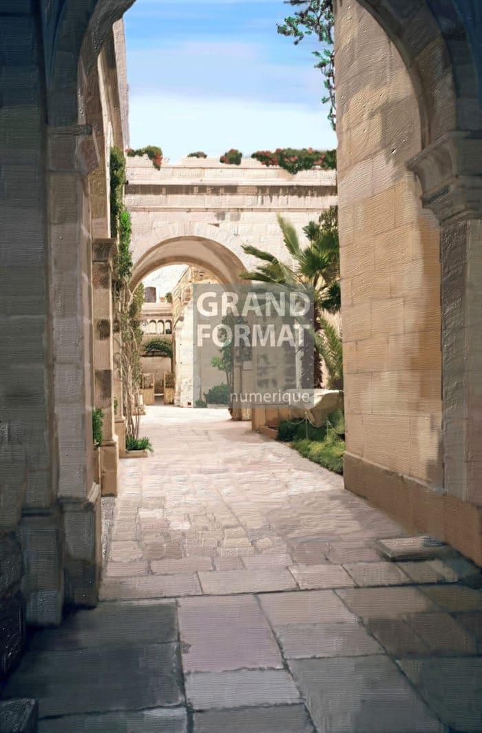 Jardin, vestige, peinture à télécharger