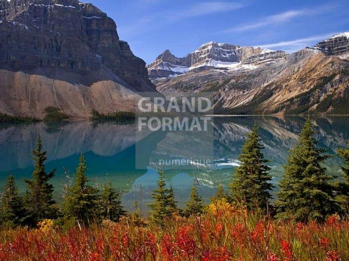 Lac montagne photo impression et toile
