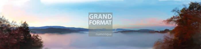 Panoramique peinture impression sur toile