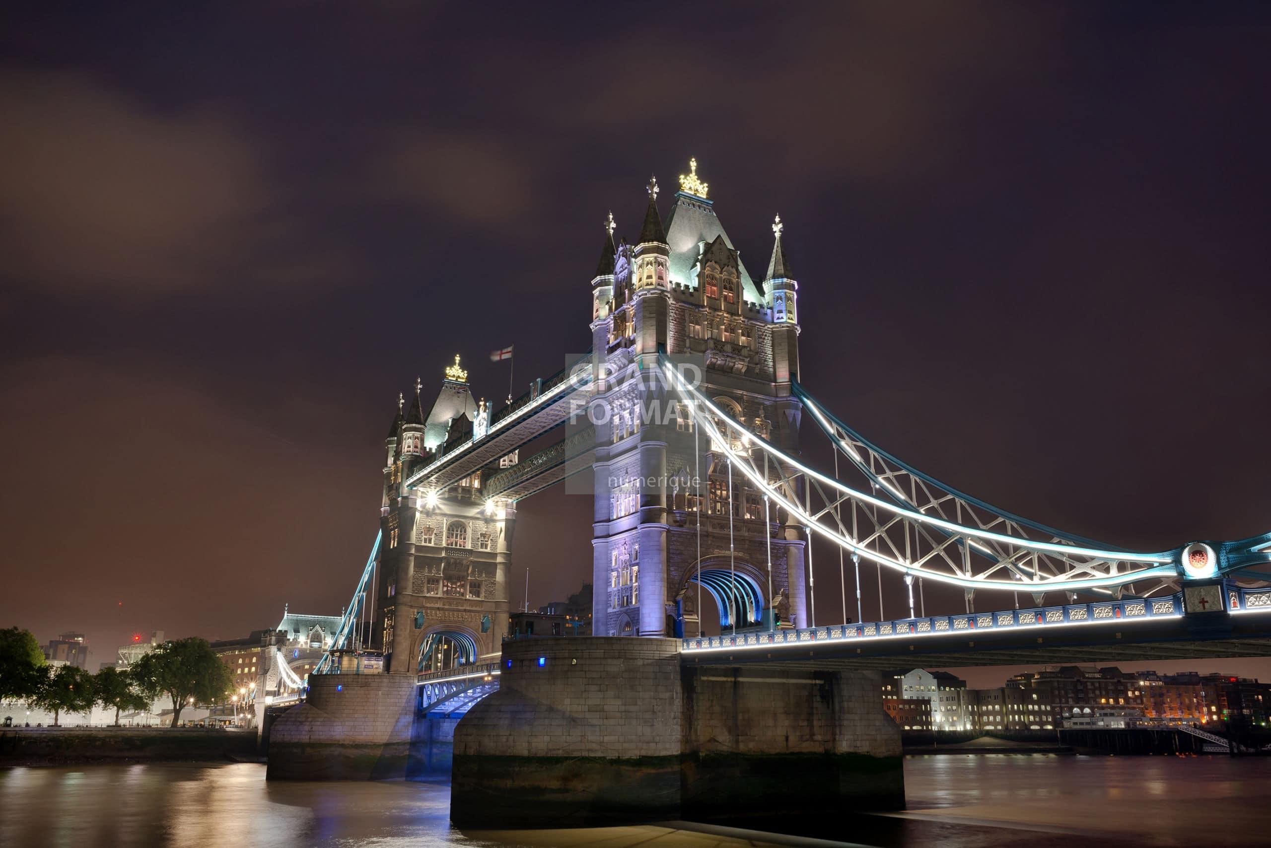 Londres, pont, photo impression et toile