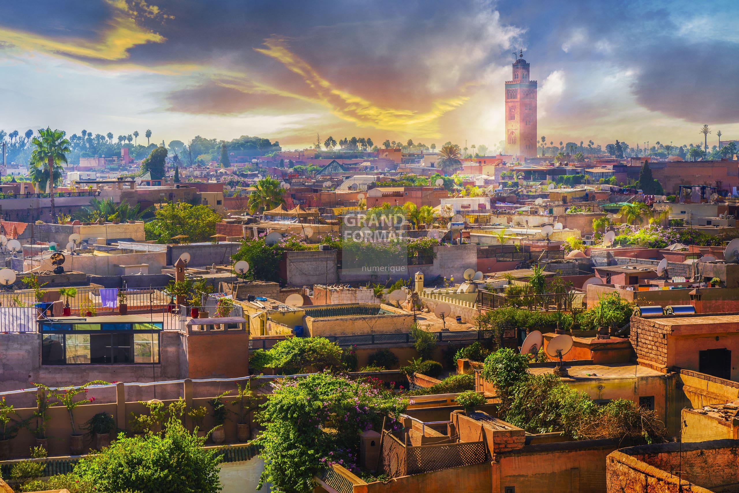 Medina Maroc photo impression et toile