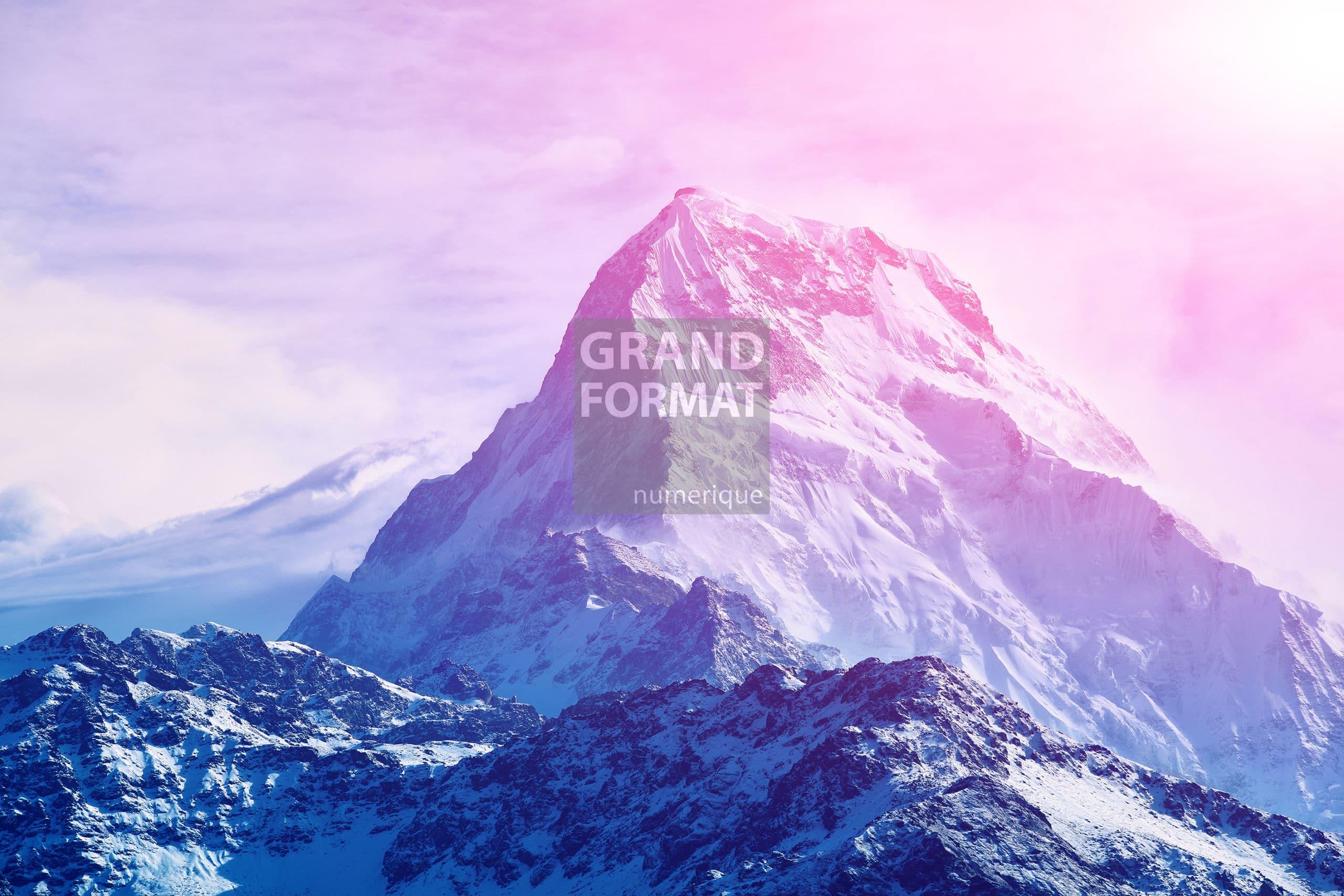 Alpes montagne photo impression et toile