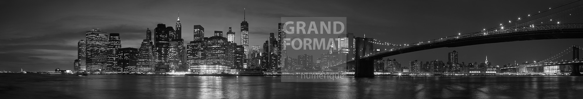 New York nuit photo impression et toile
