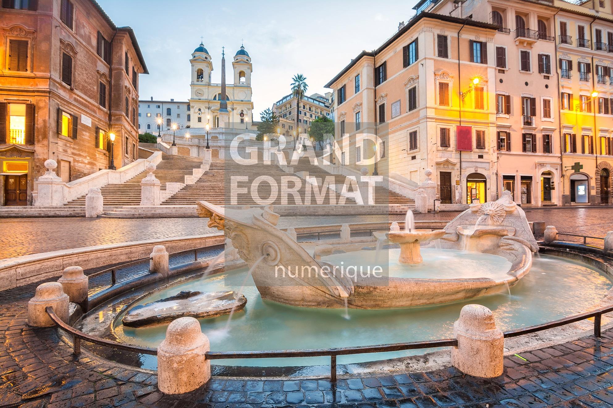 Rome fontaine photo impression et toile