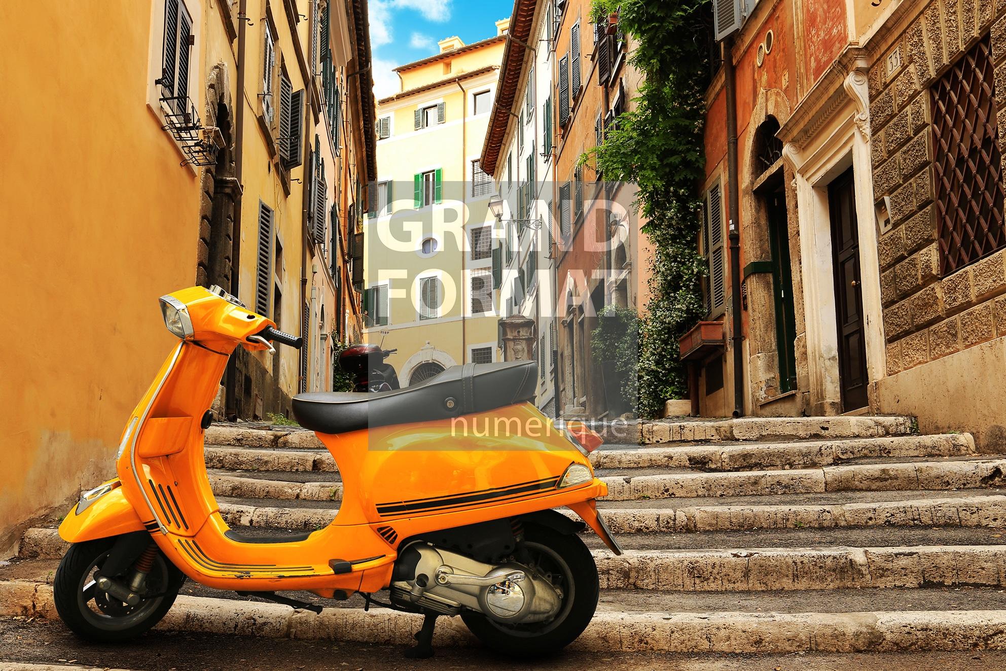 Rome vespa photo impression et toile