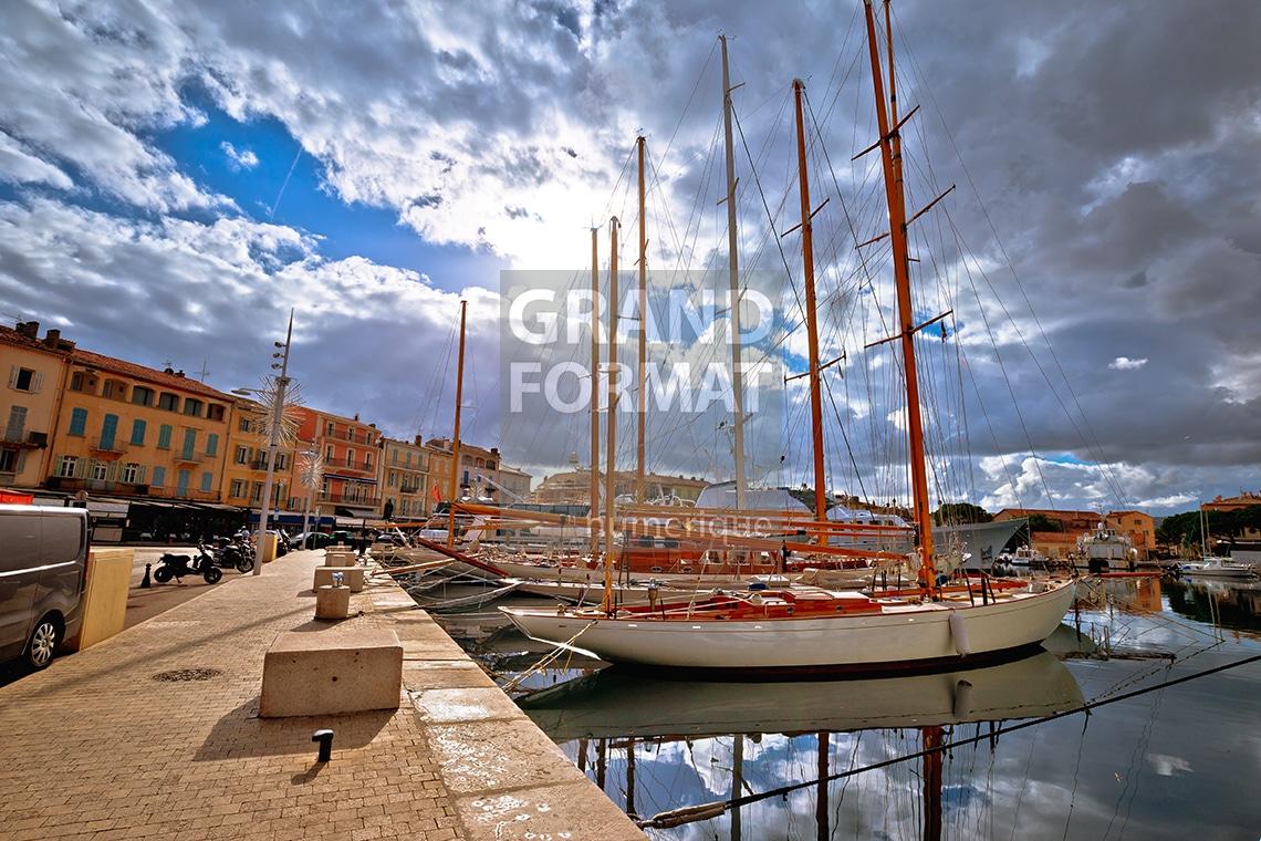 St Tropez port photo impression et toile