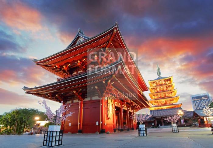 Tokyo temple photo impression et toile