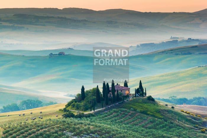 Vigne, Toscane photo impression sur toile