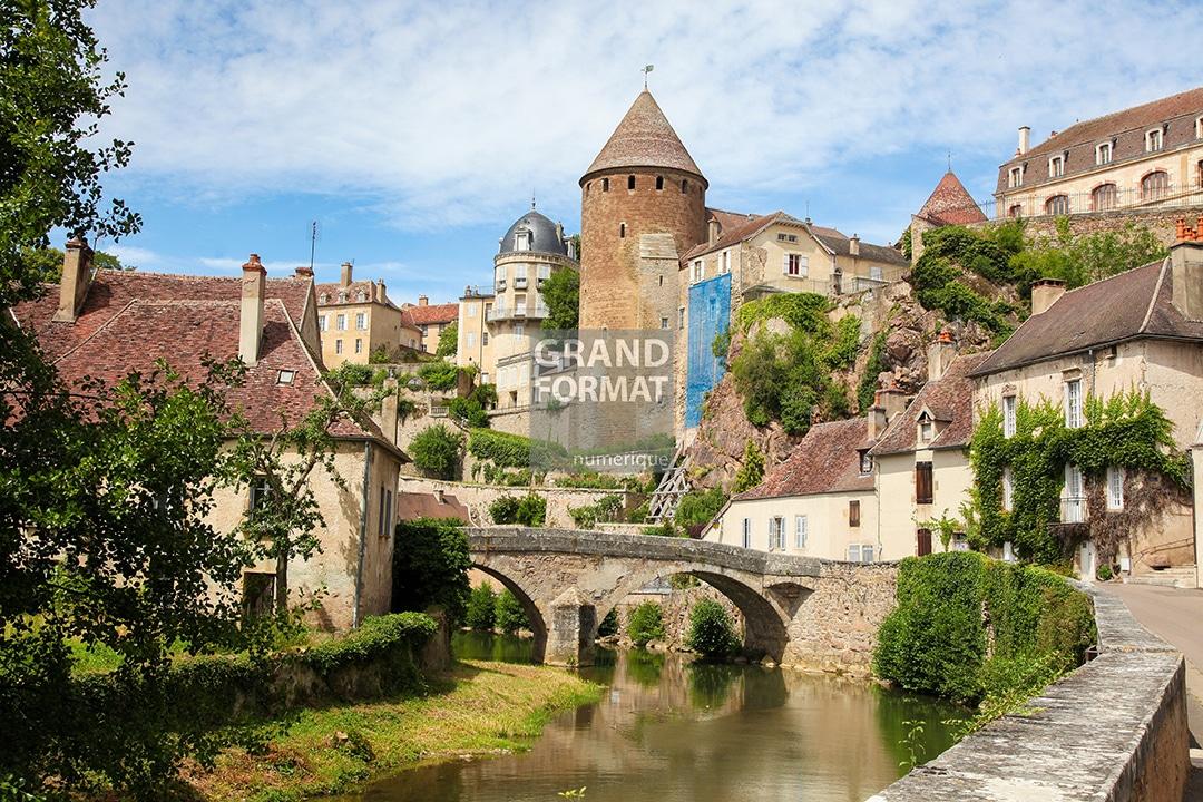 Village France photo impression et toile