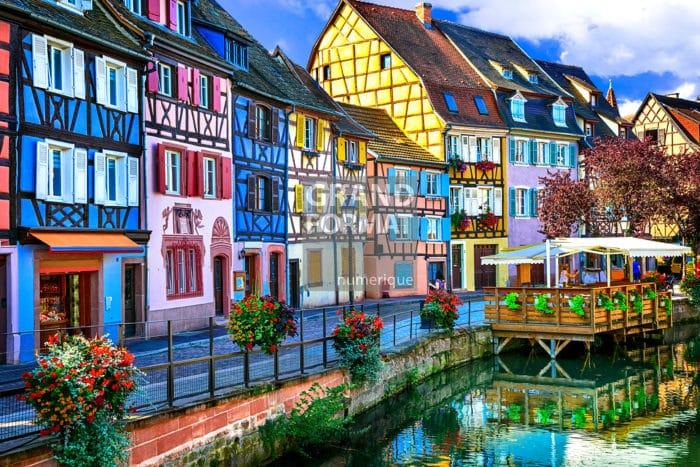 Village Alsace photo impression et toile