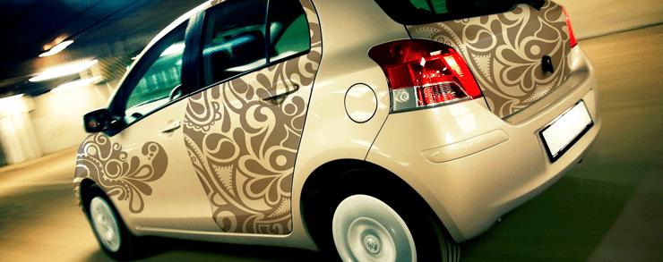 Impression adhésif vitrine - habillage véhicule