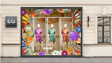 Impression adhésif vinyle décoration vitrine